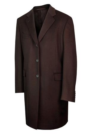 Man luxury cashemire coat isolated on white background