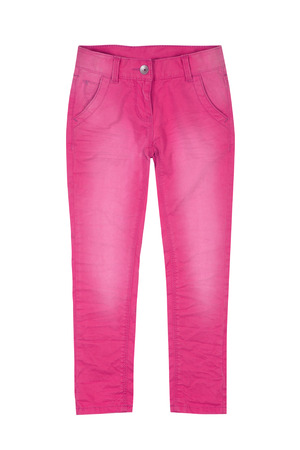 Pink girl trousers isolated on white