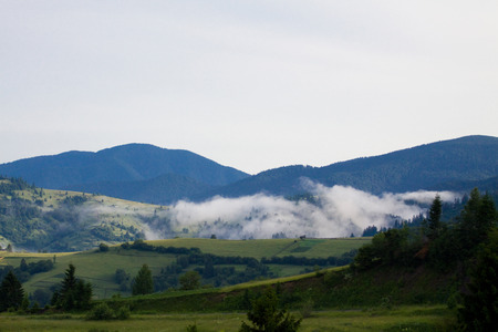 mountain mist in the mountains photo