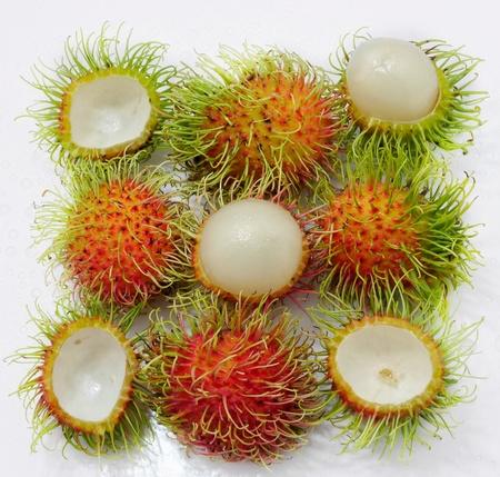 Red sweet rambutan, Thai tropical fruit