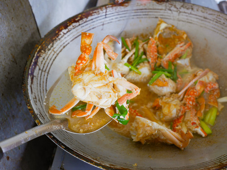 luscious: hot and spicy fried crab