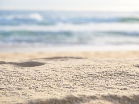 close up sand with wave of sea beach