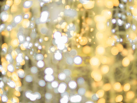 blurred bokeh light defocused background and textured for Christmas , New Year holidays party and celebration background, golden colour 스톡 콘텐츠
