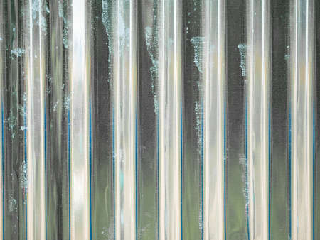 close up of silver  corrugated metal texture surface or galvanize steel background 免版税图像