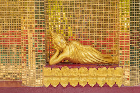 golden buddha image statue in south of Thailand