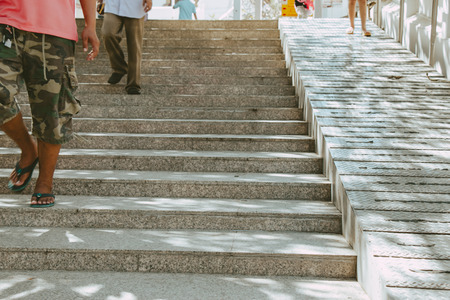 snake and ladder: Stairs and ramp are the access to temple, transportation way support for both people and wheelchair.