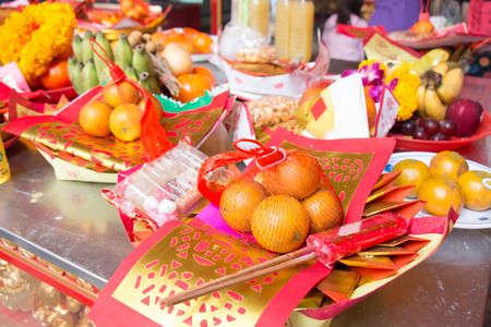 glow stick: Pattern of Joss Paper and Orange , Chinese or Lunar new year for Sacrificial offering Chinese Culture.