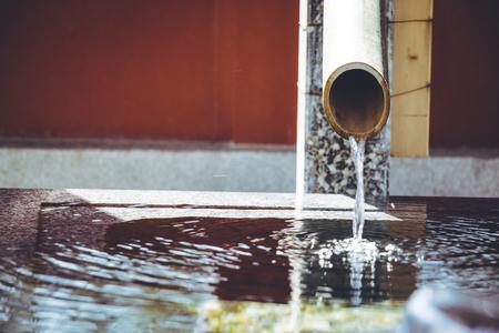 worshipper: chozuya or temizuya, water basin is the pavilion for purification where worshipper cleanse  body and spirit.