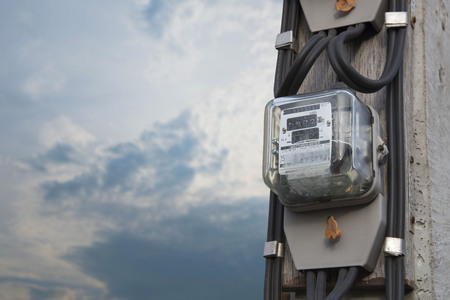 electric meters Foto de archivo