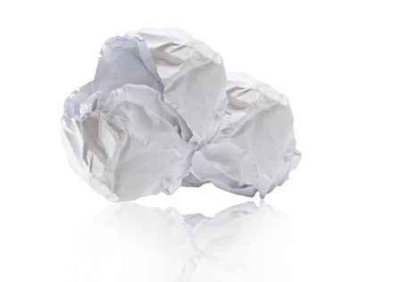 Crumpled white paper demands most yawa finance ideas