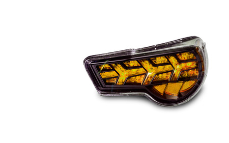 Car tail lights that are separated from the background clipping part Standard-Bild