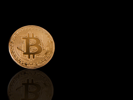 Bitcoin coins, currency technology, business technology in a separate system from the background clipping par Stock Photo