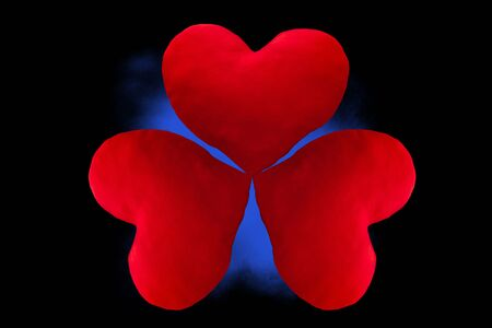 Red heart, love separated from the background Фото со стока
