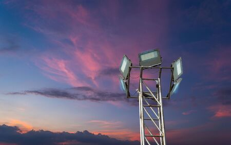 Pole lighting system led outdoor lighting technology that is separated from the background