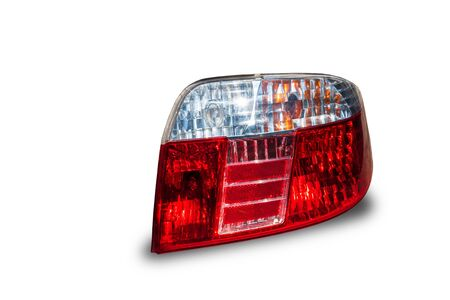 Car tail light, led system technology Isolated from the background white background clipingpart