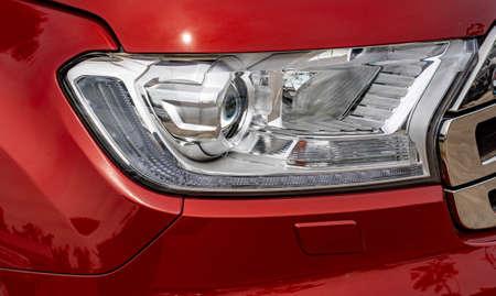 Car headlight, reflection technology, led system, travel, use, chrome, reflection, reflection Standard-Bild