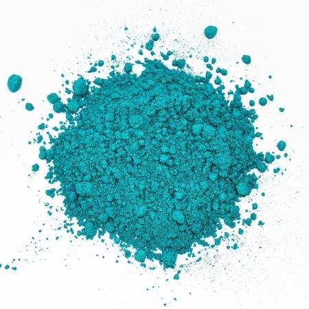 blauwe verspreide cosmetische Stockfoto