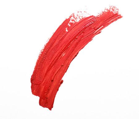 geïsoleerd rode lippenstift beroerte