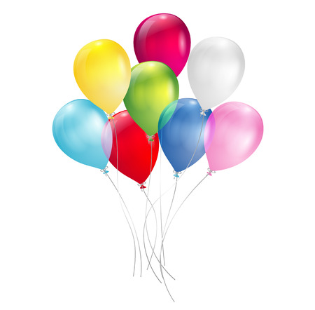 globos de cumplea�os: globos multicolores