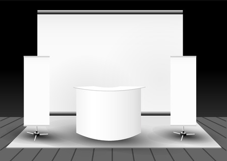 Blank trade exhibition stand booth Illustration