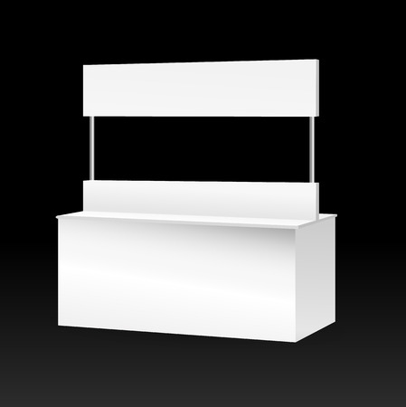 bar counter: white promotion counter