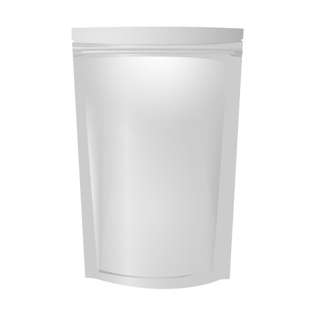 Blank aluminium folie zak pakket Stock Illustratie