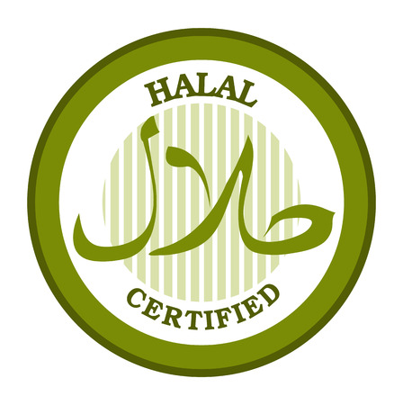 Halal certified product label