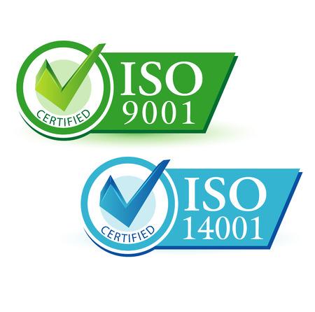 ISO 9001 e ISO 14001 Foto de archivo - 35566078