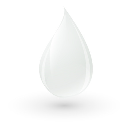 milk drop: drop of milk Illustration