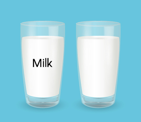 glass of milk: Glass with milk Illustration