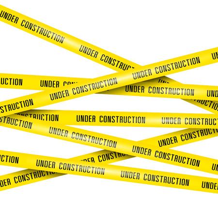 建設のリボンの下  イラスト・ベクター素材