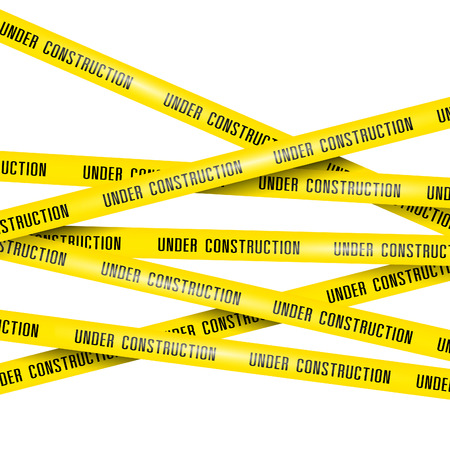 construction signs: under construction ribbons