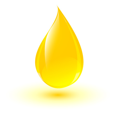 Shiny drop of oil