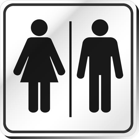 Vector Hombre y Mujer baño signo