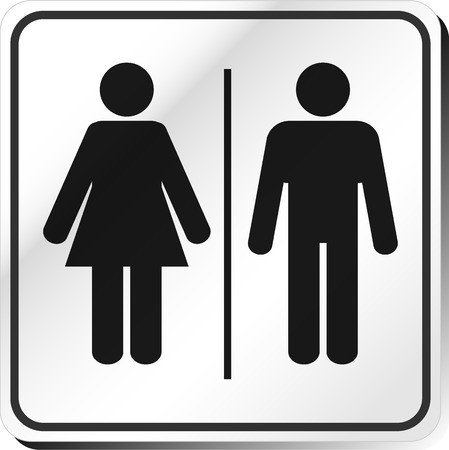 sign: Vector Man & Woman restroom sign