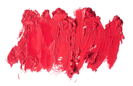 crushed: Smudged lipstick abstract texture Stock Photo