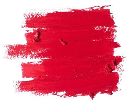赤い口紅のテクスチャー