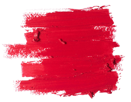 rode lippenstift textuur Stockfoto