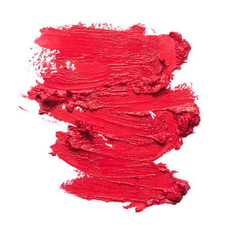 Smudged lipstick texture Stock Photo