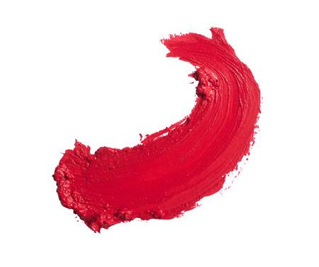 lip stick: red lipstick stroke Stock Photo