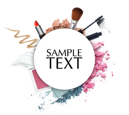 circle objects: cosmetic promotion circle frame Stock Photo