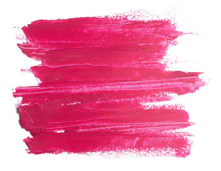 the lipstick: pink lipstick texture on white Stock Photo