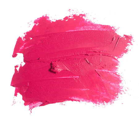 pink lipstick texture Stock Photo