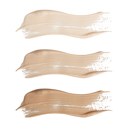 touch base: foundation swatches isolated