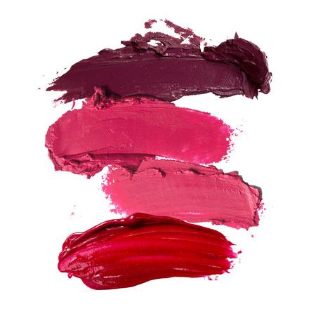 close-up van lippenstift beroerte Stockfoto