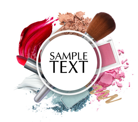 beautiful cosmetic promotion circle frame Reklamní fotografie