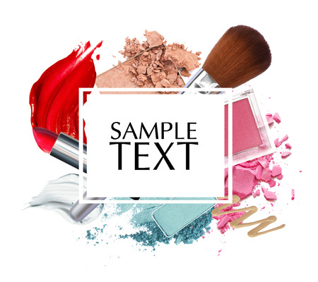 beautiful cosmetic promotion square frame
