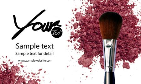 Maquillage artiste modèle de carte de visite avec articles de maquillage fond Banque d'images - 60010018