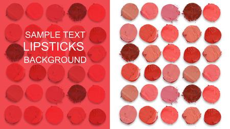 Multicolored lipsticks cut pattern