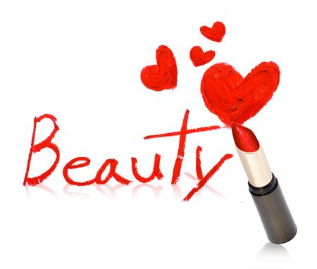 """Inscription rouge à lèvres """"Beauty"""" Banque d'images - 60573977"""